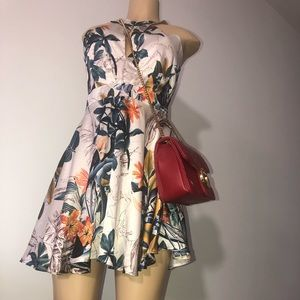 Pretty Floral Satin Zaful Dress